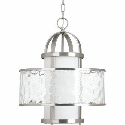 Triplehorn 1-Light Hanging Foyer Pendant Finish: Brushed Nickel