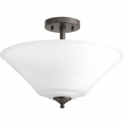 Jilliann 3-Light Semi-Flush Mount Base Finish: Antique Bronze