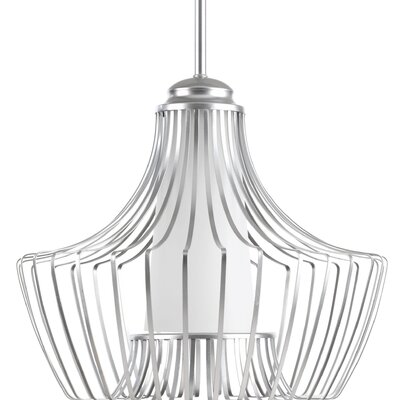 Berkowitz 1-Light Foyer Pendant Finish: Metallic Silver
