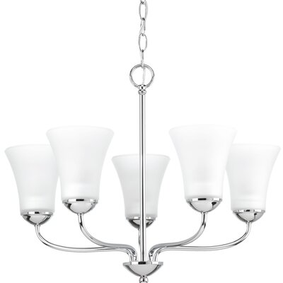 Bogdan 5-Light Shaded Chandelier Finish: Polished Chrome