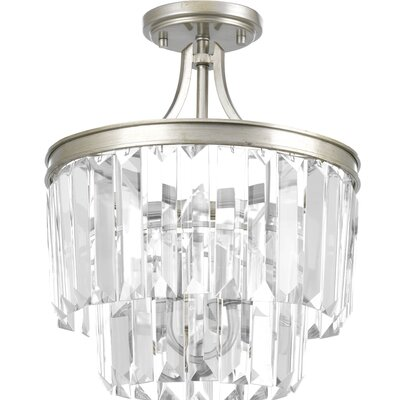 Eggar 3-Light Sparkle Crystal Chandelier Finish: Silver Ridge