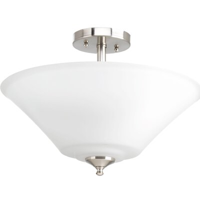 Joy 3-Light Semi-Flush Mount Base Finish: Brushed Nickel
