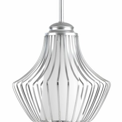 Finn 1-Light Mini Pendant Finish: Metallic Silver
