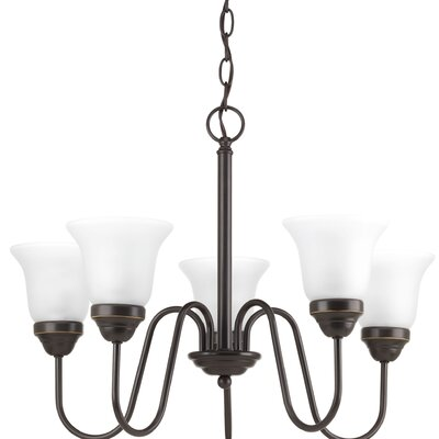Bogdan Contemporary 5-Light Shaded Chandelier Finish: Antique Bronze