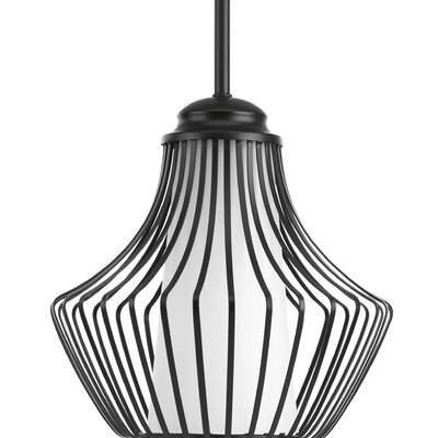 Berkowitz 1-Light Mini Pendant Finish: Black