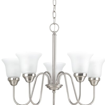 Bogdan Contemporary 5-Light Shaded Chandelier Finish: Brushed Nickel