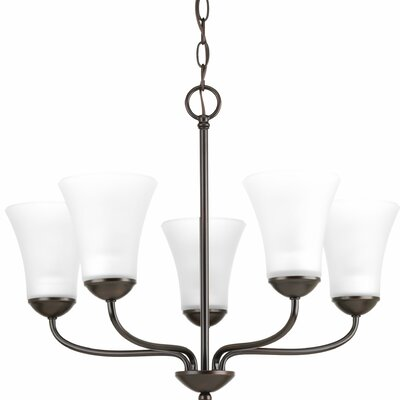 Bogdan 5-Light Shaded Chandelier Finish: Antique Bronze