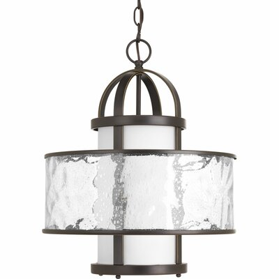 Triplehorn 1-Light Hanging Foyer Pendant Finish: Antique Bronze