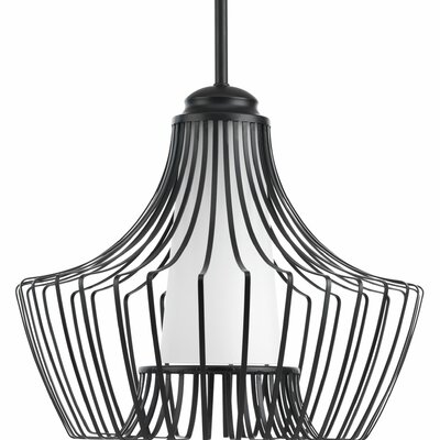 Berkowitz 1-Light Foyer Pendant Finish: Black