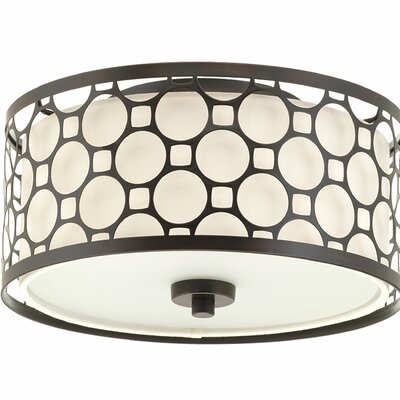 Komal LED 1-Light Flush Mount Size: 5.88 H x 11 W x 11 D