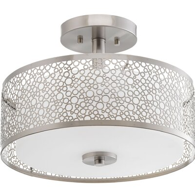 Komal 1-Light Semi Flush Mount Finish: Brushed Nickel