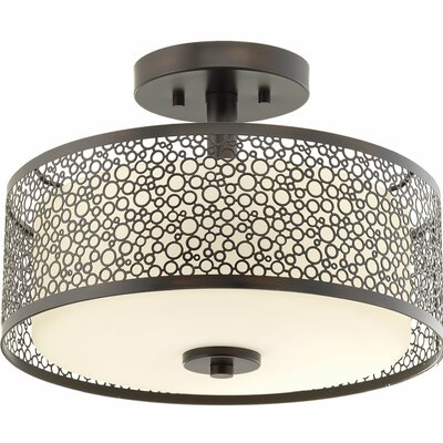 Komal 1-Light Semi Flush Mount Finish: Antique Bronze