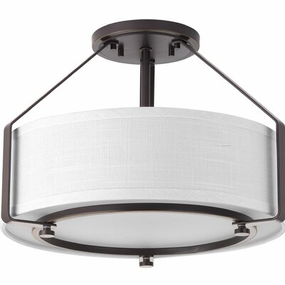 Richardson 3-Light Flush Mount Base Finish: Antique Bronze