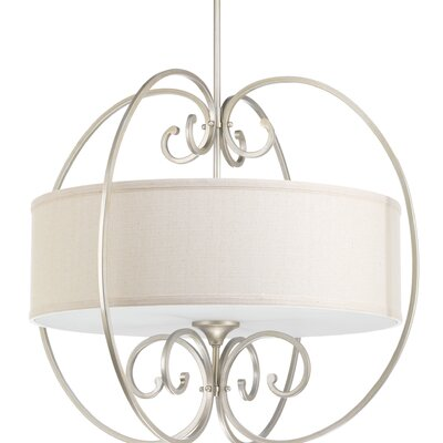 Overbrook 4-Light Drum Pendant Base Finish: Silver Ridge