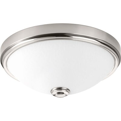 Boykins 1-Light Flush Mount Finish: Brushed Nickel, Size: 5.38 H x 15 W x 15 D