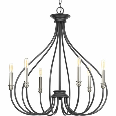Whisp 6-Light Candle-Style Chandelier