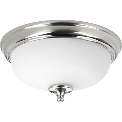 Bolles 1-Light LED Flush Mount Finish: Brushed Nickel, Size: 6.75 H x 15 W x 15 D