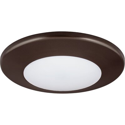 Bolander 1-Light LED Flush Mount Finish: Antique Bronze