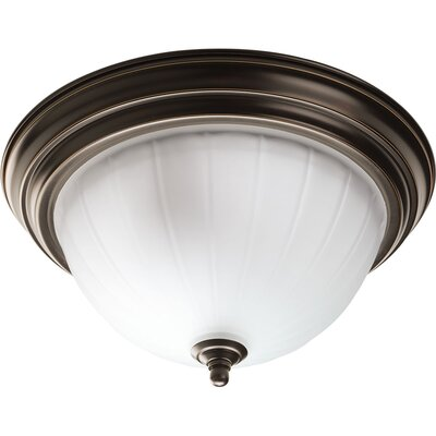 Melon 2-Light Flush Mount Finish: Antique Bronze