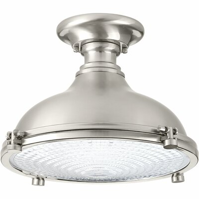 1-Light LED Semi Flush Mount Finish: Brushed Nickel