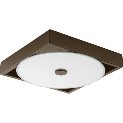 Little Sodbury 1-Light LED Flush Mount Finish: Architectural Bronze, Size: 2.25 H x 9 W x 9 D