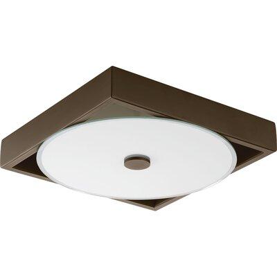 Frame 1-Light LED Flush Mount Finish: Architectural Bronze, Size: 2.25 H x 12 W x 12 D