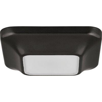 Ayotte 1-Light Flush Mount Finish: Black