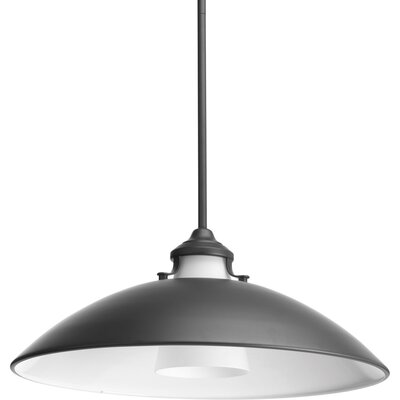 Haner 1-Light Inverted Pendant Finish: Graphite