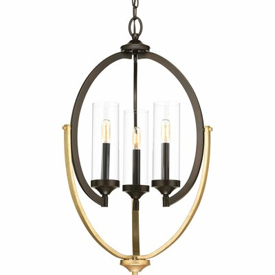 Zaleski 3-Light Candle-Style Chandelier Finish: Antique Bronze