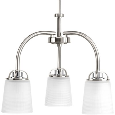 West Village 3-Light Shaded Chandelier Finish: Brushed Nickel