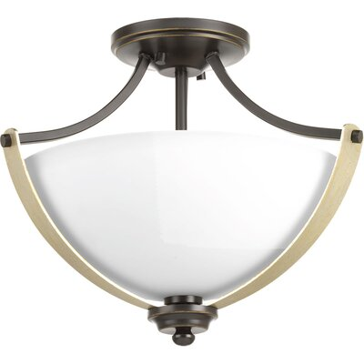 Noma 2-Light Semi Flush Mount Finish: Antique Bronze