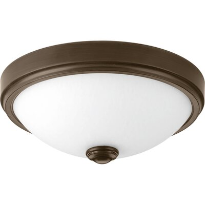 Boykins 1-Light Flush Mount Finish: Antique Bronze, Size: 4.63 H x 11 W x 11 D