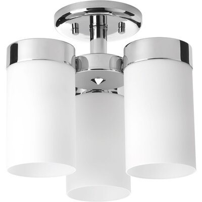 Kieron 3-Light Semi Flush Mount Finish: Polished Chrome
