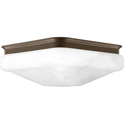 Paramveer 1-Light Flush Mount Finish: Antique Bronze