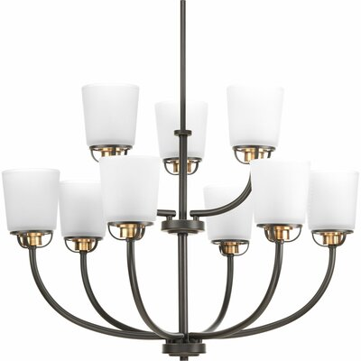 West Village 9-Light Shaded Chandelier Finish: Antique Bronze P400010-020