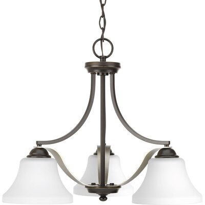 Abid 3-Light Shaded Chandelier Finish: Antique Bronze