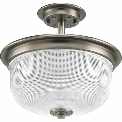 Cambarville 2-Light Semi Flush Mount Finish: Antique Nickel