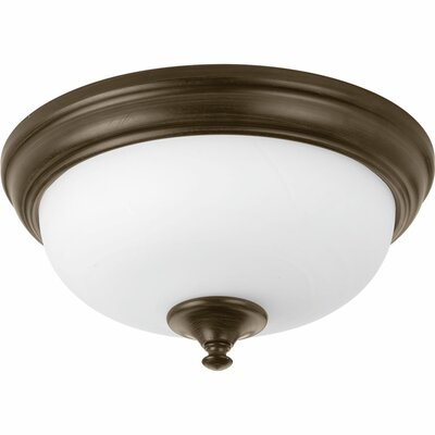 Bolles 1-Light LED Flush Mount Finish: Antique Bronze, Size: 6.75 H x 15 W x 15 D