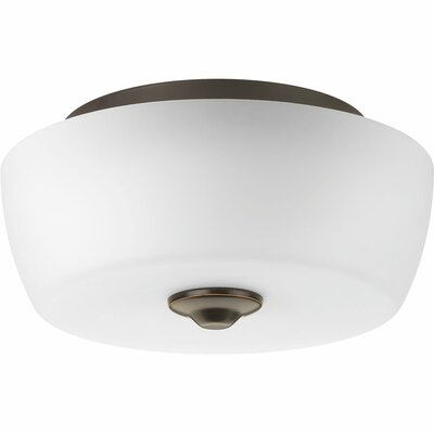 Leap 2-Light Flush Mount Finish: Antique Bronze