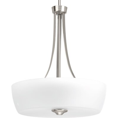 Devi 3-Light Bowl Pendant Finish: Brushed Nickel