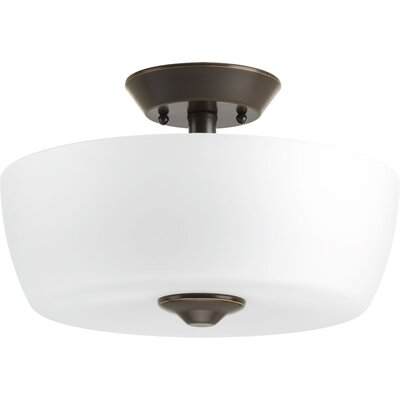 Devi 2-Light Semi Flush Mount Finish: Antique Bronze