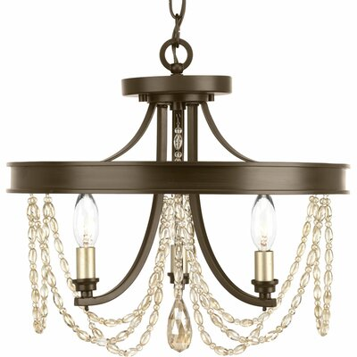 Allaire 3-Light Semi Flush Mount