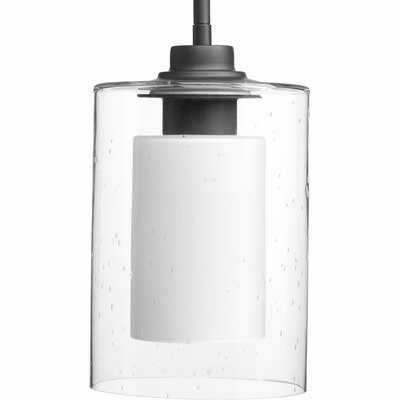 Jere Double Glass 1-Light Mini Pendant Finish: Graphite, Size: 13.5 H x 7.75 W x 7.75 D