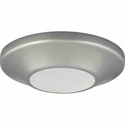 1-Light Flush Mount Finish: Metallic Gray