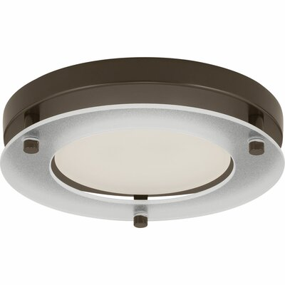 Philllip 1-Light Flush Mount Finish: Antique Bronze