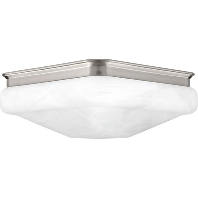 Paramveer 1-Light Flush Mount Finish: Brushed Nickel