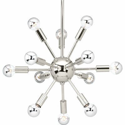 Ion 12-Light Sputnik Chandelier Finish: Polished Nickel