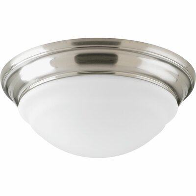 1-Light Flush Mount Finish: Brushed Nickel, Size: 4.5 H x 12.56 w x 12.56 D