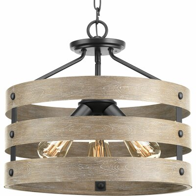 Gulliver 3-Light Semi Flush Mount