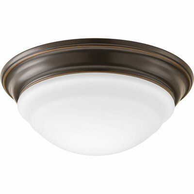 1-Light Flush Mount Finish: Antique Bronze, Size: 4 H x 11 W x 11 D
